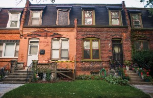 In many parts of the neighborhood, the extent of preservation varies starkly from house to house.
