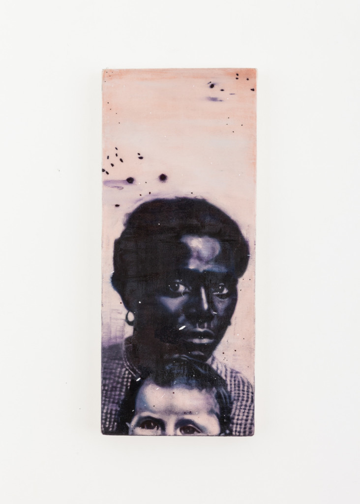 """Drawing After an Ambrotype Of an Enslaved African American Woman Holding A White Child, Taken by unknown photographer, Library of Congress. ca. 1855,"" spray fixed soft pastel on raw canvas with acrylic"