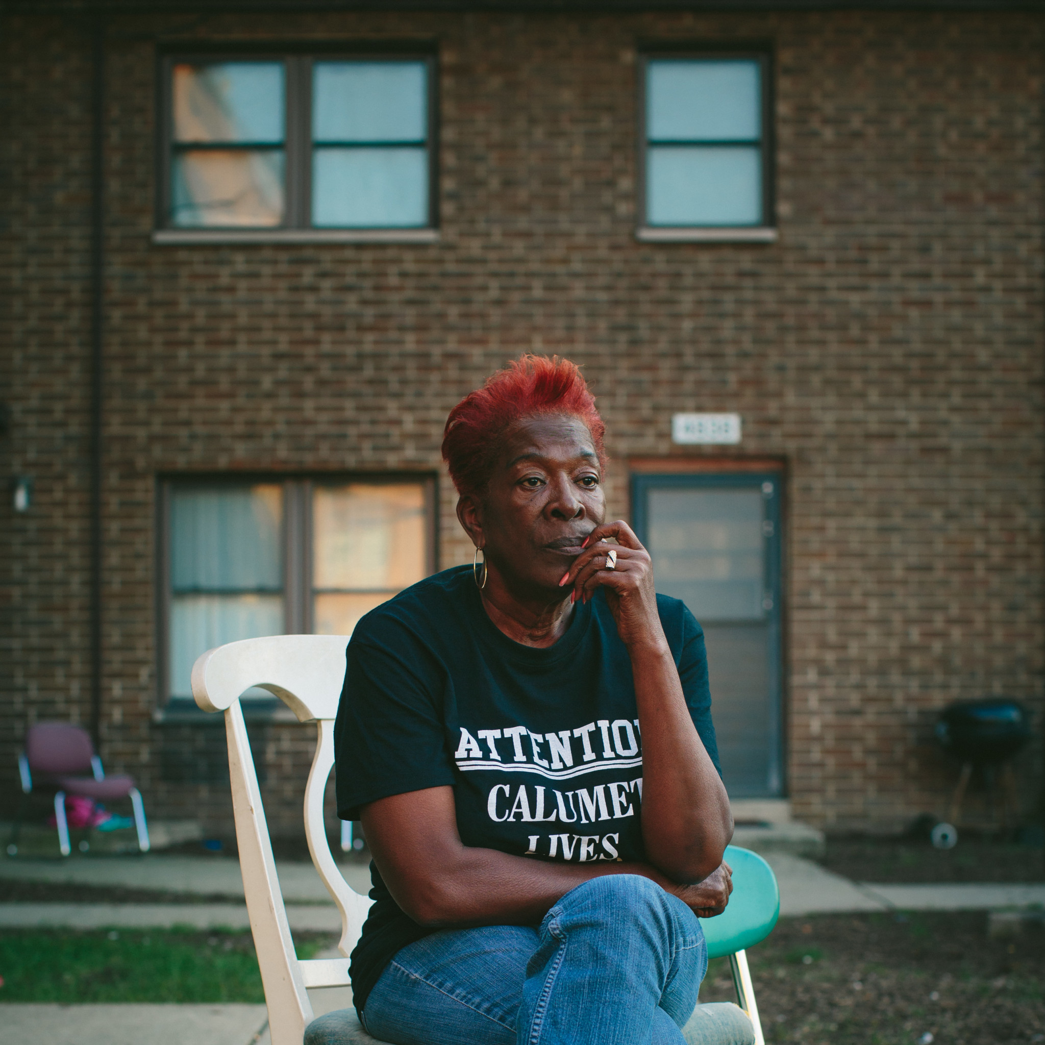 Sherry Hunter grew up in the West Calumet Housing Complex and now owns a home in neighboring zone two. The EPA has classified three zones of concern related to the 79-acre superfund site where a USS Lead facility once stood.