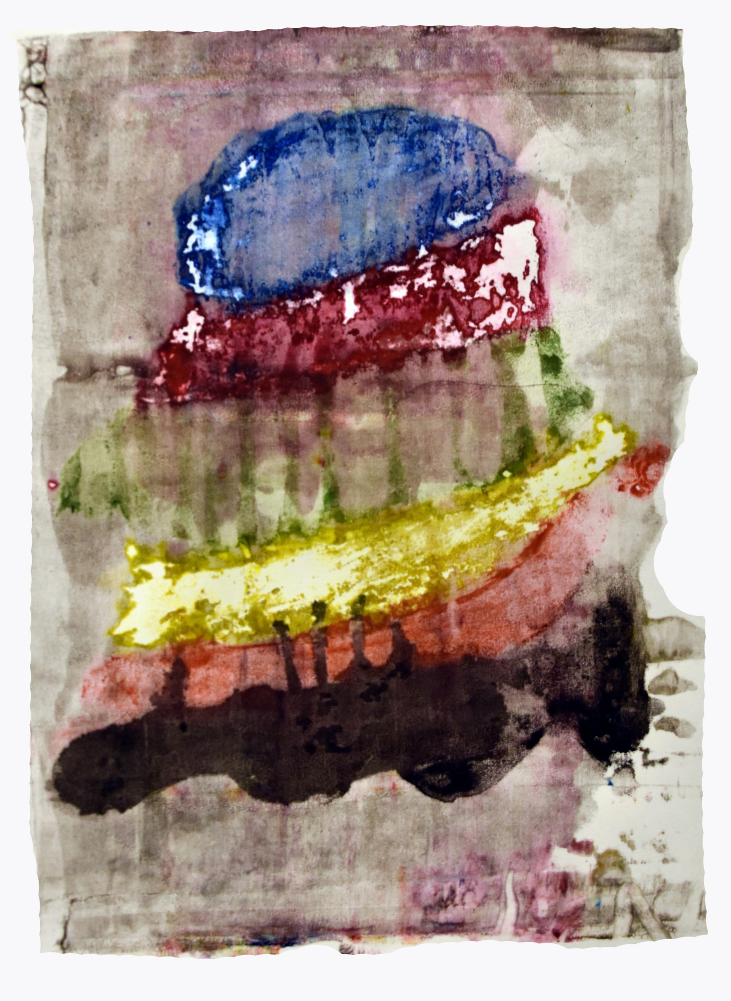 "Watercolor & Ink Print on Paper, december 2016 9 X 12"" Studio Programs at SkyART Studios Dominique, 19 years old Graphic Design major at Illinois Institute of Art Chicago Coming to SkyART for 14 years"