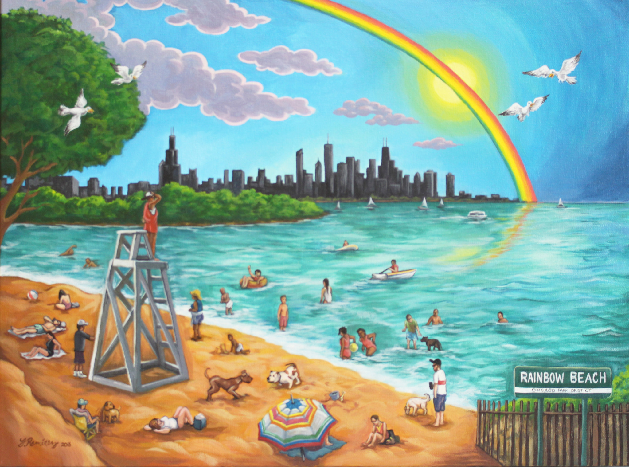 "Fernando Ramirez ""Rainbow Beach"" For the Obama Presidential Foundation"