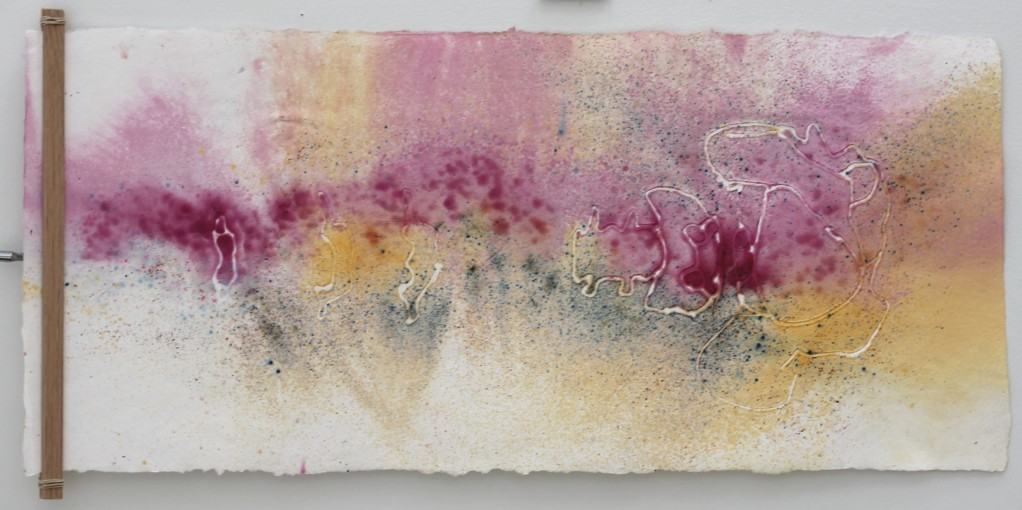 Claire Reynes Aberration, 2016 Cotton rag fibers, liquid and powdered pigments and dyes, hot glue embossment