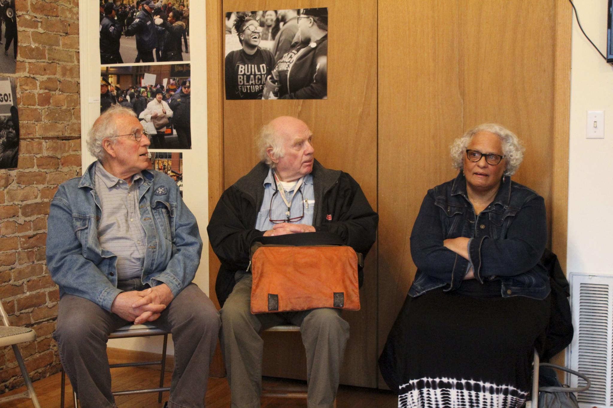 L-R: Peter Kuttner, Bruce Thomas, Mary Scott-Boria (Maddie Anderson)