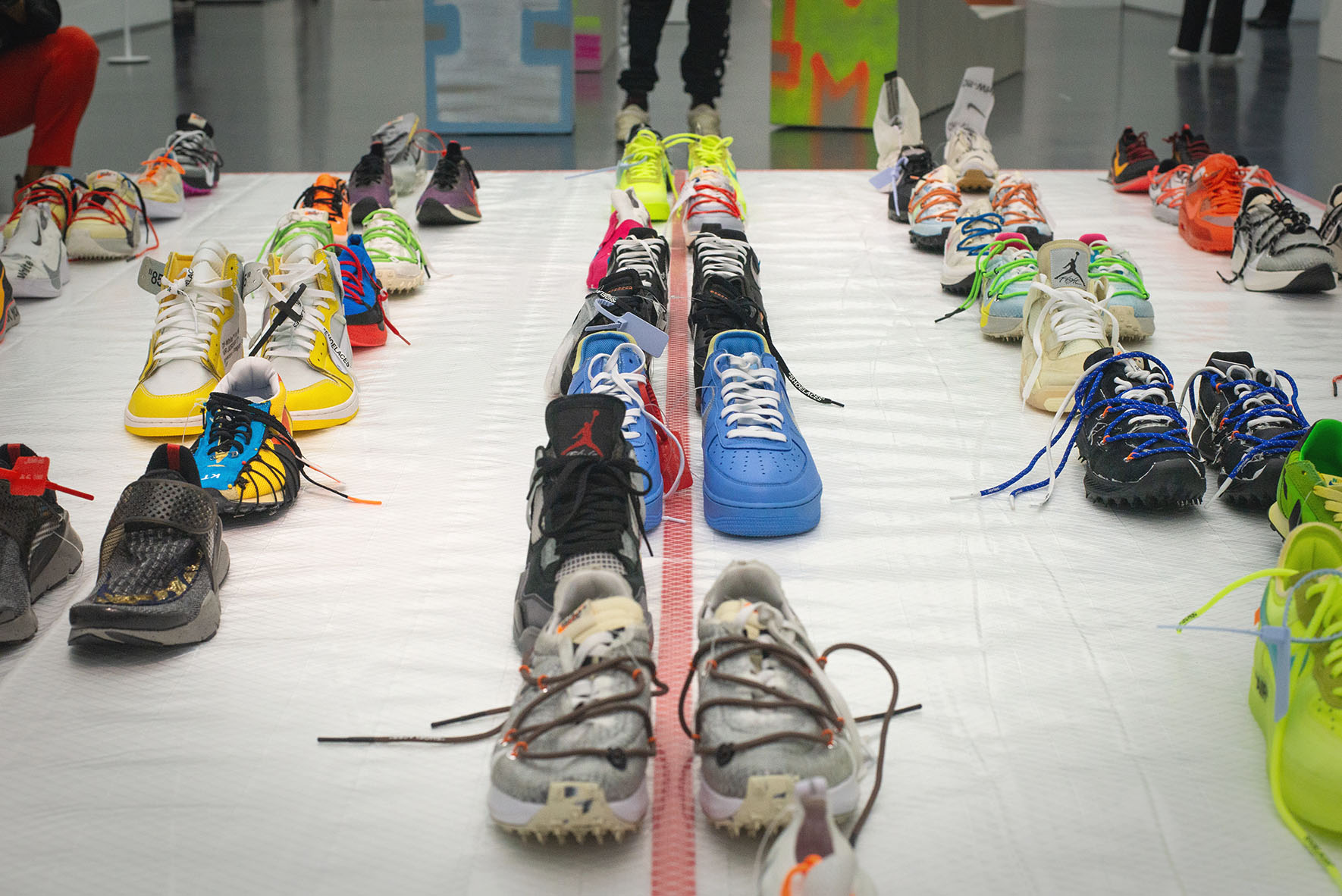 gym shoes from Virgil Abloh exhibition