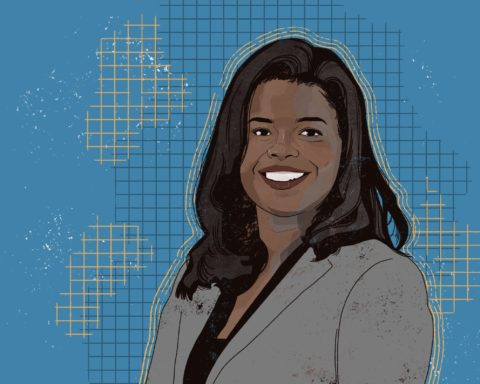 Illustration of Kim Foxx by Shane Tolentino