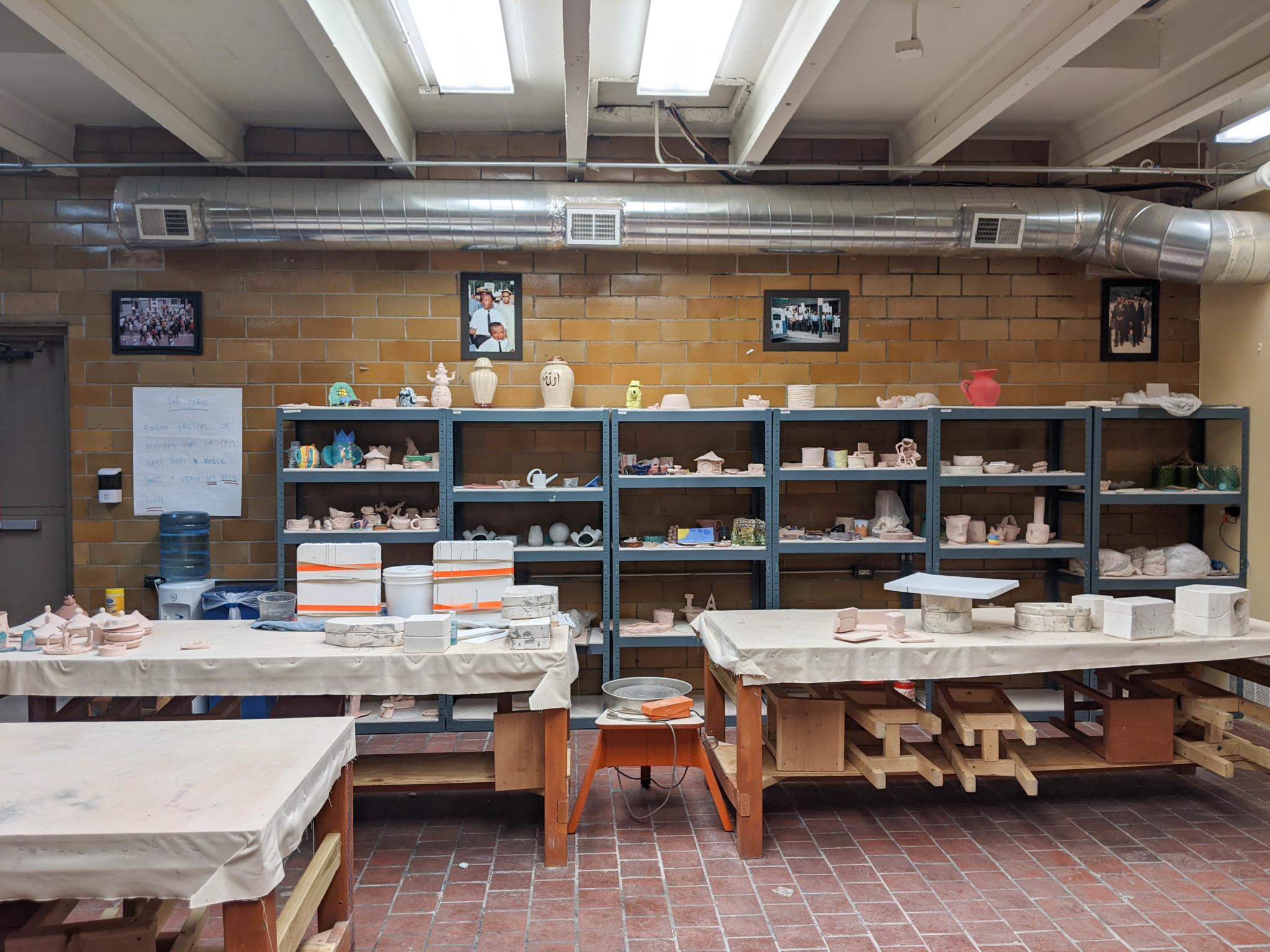 Iman Ceramics Studio. Photo Credit: Eli Hoening