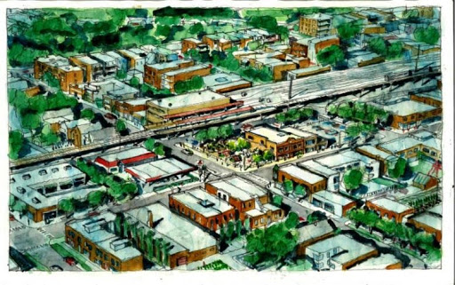 "Artists rendering of Englewood's ""Go Green on Racine"" plan. Courtesy R.A.G.E."