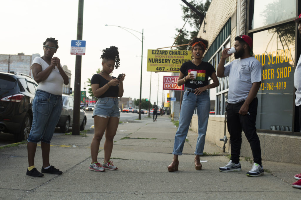 Resita Cox and Mashaun Hendricks (right) at TRAP House Chicago People Say. Photo Courtesy of: Rohan Ayinde