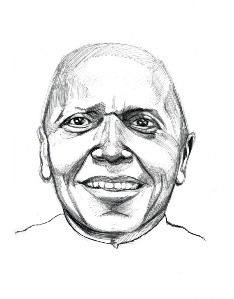 Gerard Williams. AfriCOBRA Founder. Illustration Credit: Ashanti Owusu-Brafi