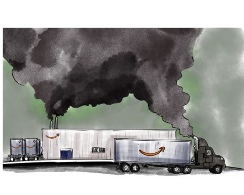 Amazon Pollution. Illustration Credit: Haley Tweedell