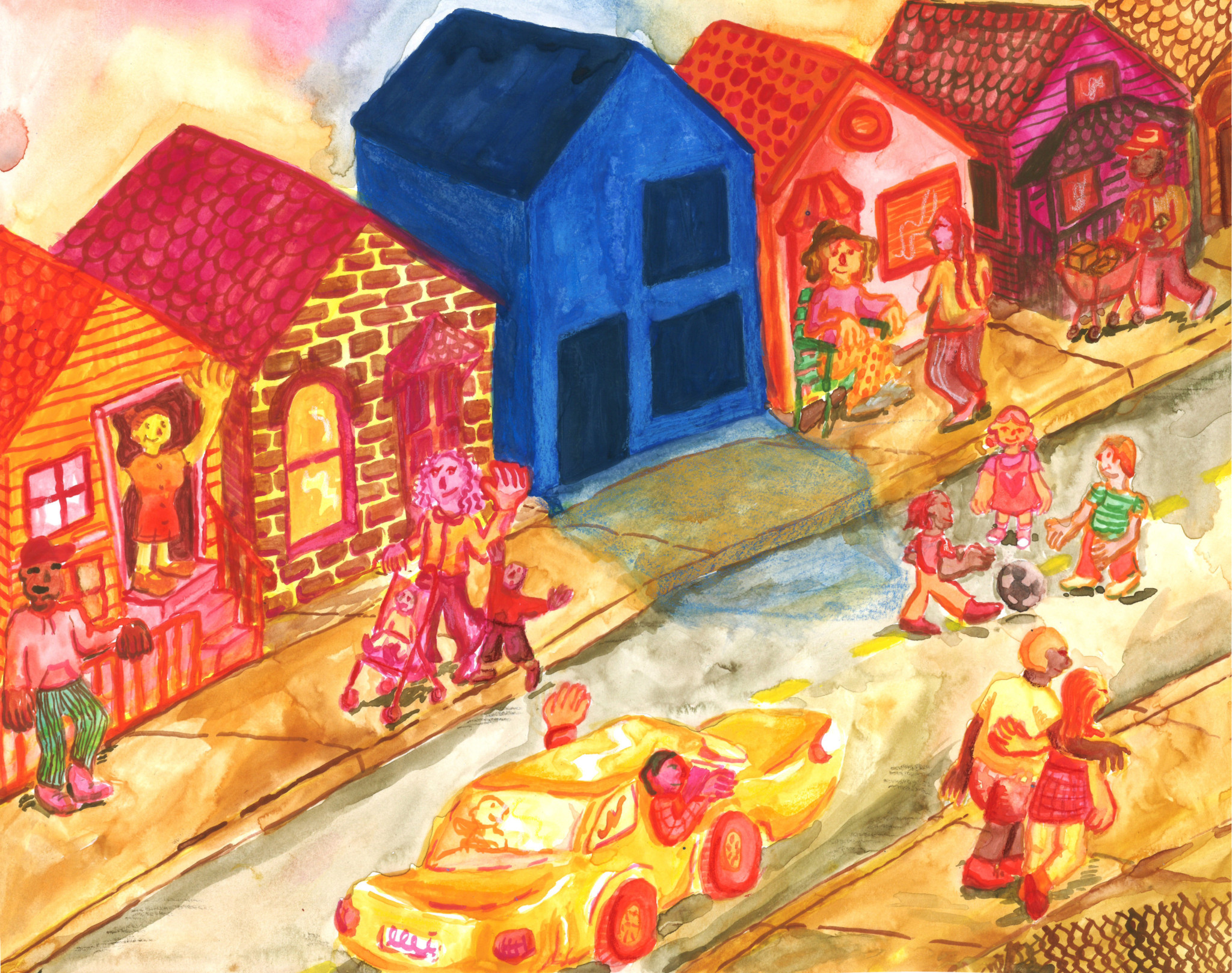 COP Houses. Art credit: Illustration by Emma Punch.