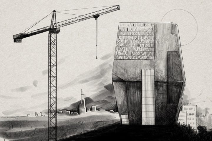 Obama Center. Illustration By: Haley Tweedell.