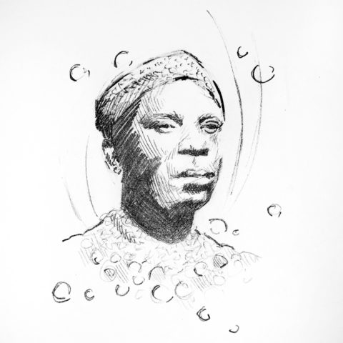 Sun Ra. Illustration By: Lizzie Smith