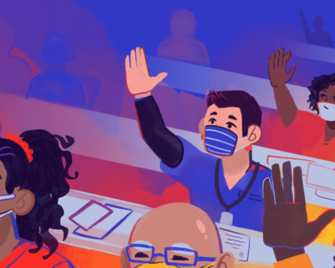 Public Meetings Report. Illustration by Holley Appold/South Side Weekly