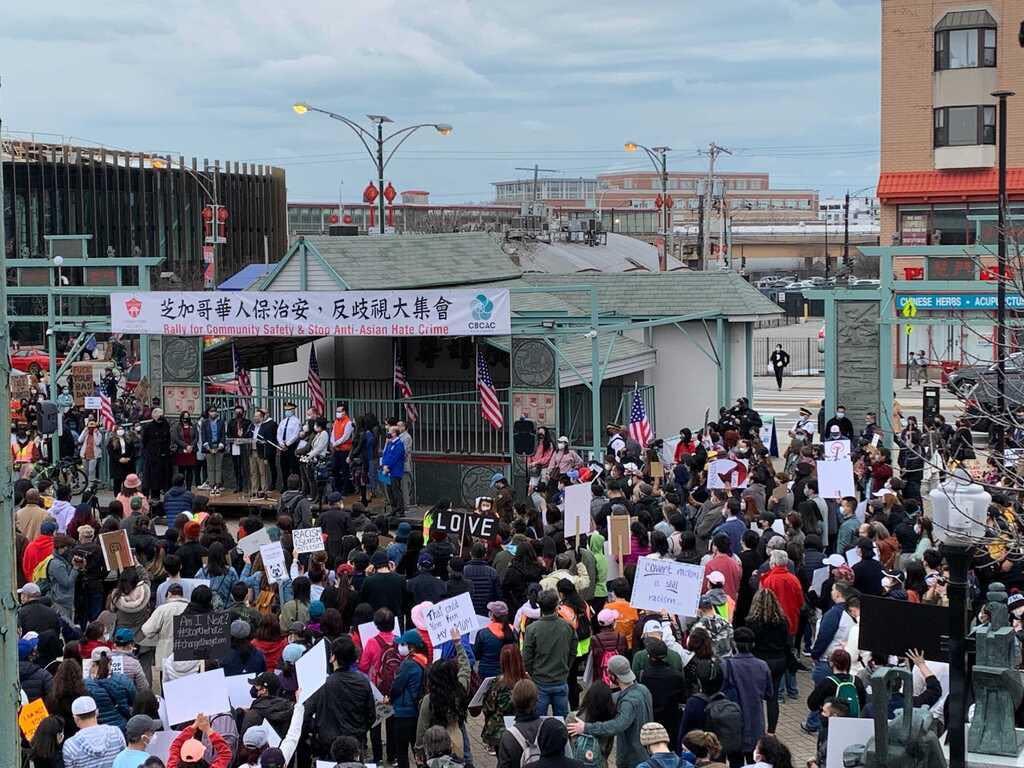 Chinatown Rally. Photo By: YiwenLu