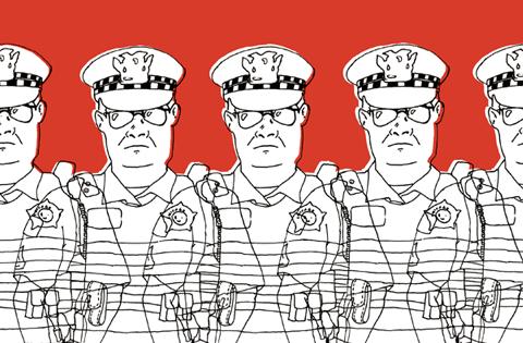 Police Monitoring. ART CREDIT: Ellen Hao.