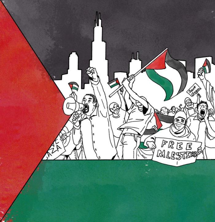 Palestine Solidarity. Art By: Gwyn Whalen.