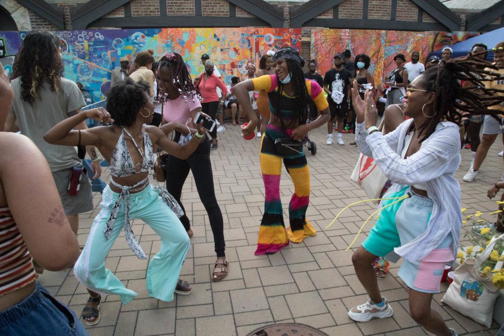 Dancers at the DuSable Juneteenth celebration