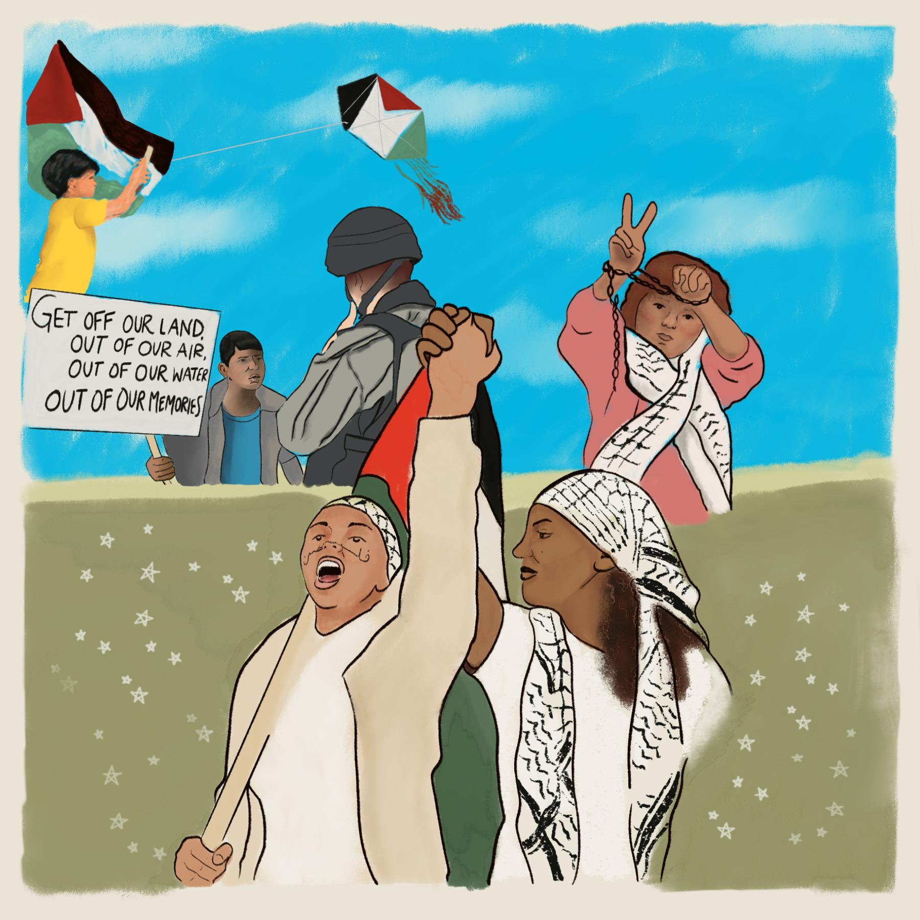 Panel On Palestine. Art By: Danya Zituni