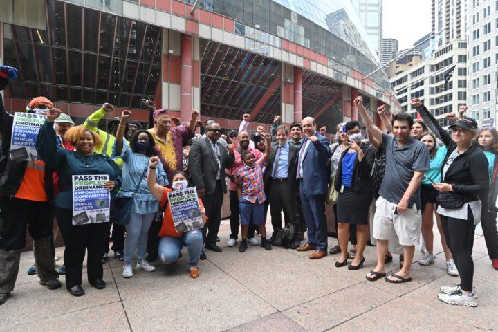 Coalition celebrating the passage of ECPS. Photo by Paul Goyette