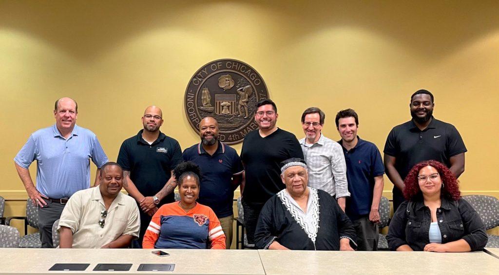 ECPS negotiating team. Photo courtesy of Ald. Carlos Ramirez-Rosa
